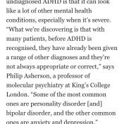 Misdiagnosis of ADHD